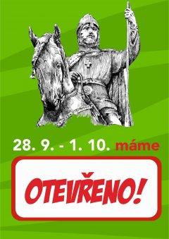 28. září - OTEVŘENO